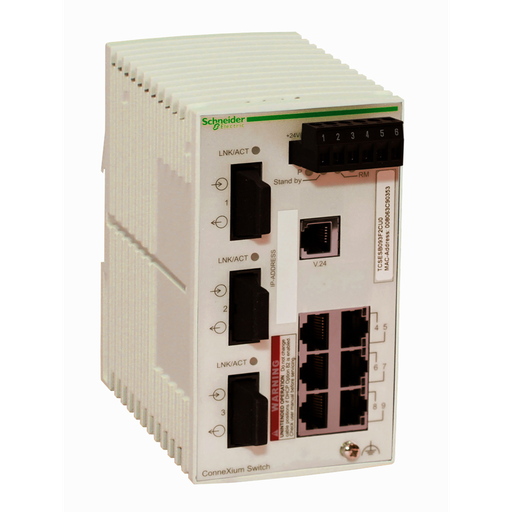 Mayer-ConneXium Basic Managed Switch - 6 ports for copper + 3 ports for fiber optic multimode-1