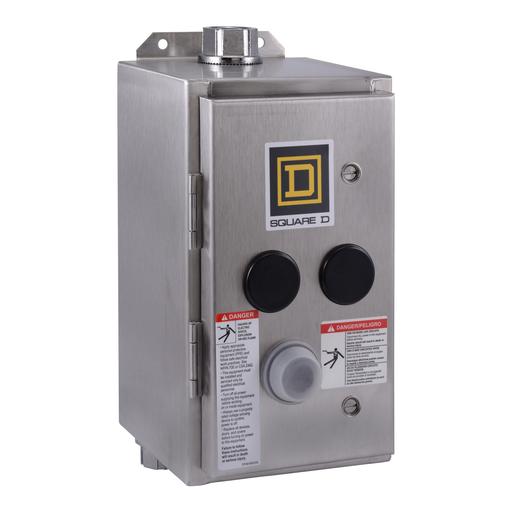 Mayer-NEMA Contactor and NEMA Motor Starter, Type S, nonreversing, enclosure, for NEMA Size 2, 8903SP, 8903L, NEMA 4 SS-1