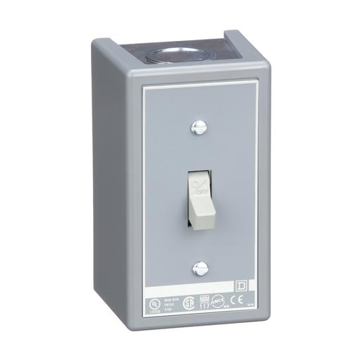 Mayer-Switch, manual, 30A, 2 pole, 3 HP at 575 VAC, single phase, toggle operated, no indicator, NEMA 1 enclosure-1