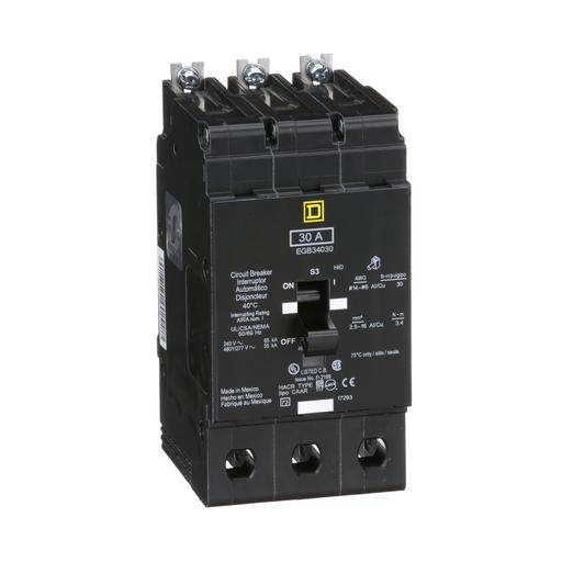 Mayer-Mini circuit breaker, E-Frame, 30A, 3 pole, 480Y/277 VAC, 65 kA max, bolt on-1