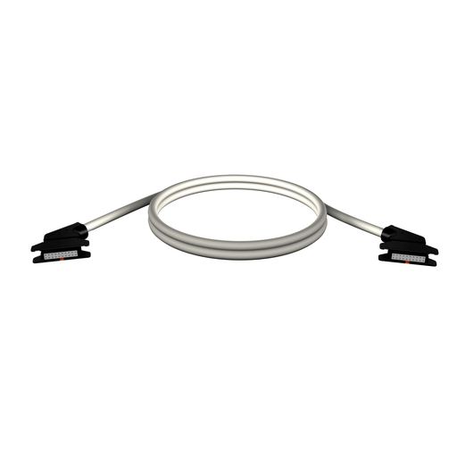 Mayer-rolled ribbon connecting cable - for I/O module with HE10 connectors - 1 m-1