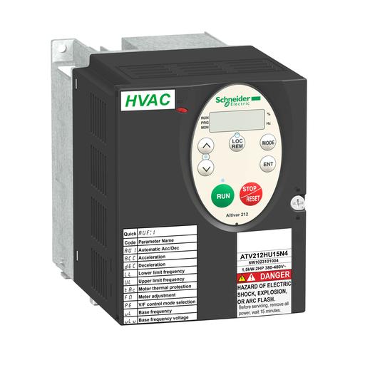 Mayer-variable speed drive ATV212 - 2.2kW - 3hp - 480V - 3ph - EMC - IP21-1