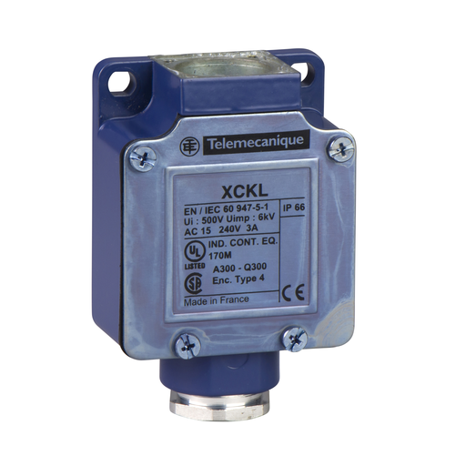 Mayer-Limit switch body, Limit switches XC Standard, ZCKL, 1NC+1 NO, snap action, Cable gland include-1