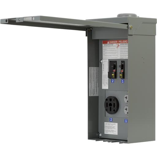 Mayer-Panel, power outlet, construction, configuration 6C, 1 phase, 3 wire, 120/240 VAC, 70A, NEMA 3R-1
