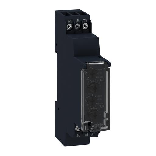 Mayer-Harmony, Modular timing relay, 8 A, 1 CO, 1 s..100 h, asymmetrical flashing, 24 V DC / 24...240 V AC/DC-1