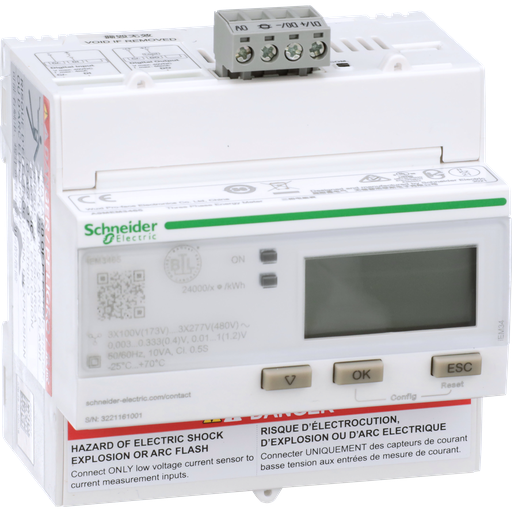 Mayer-iEM3465 energy meter - BACnet - 1 DI - 1 DO - multi-tariff - LVCT-1