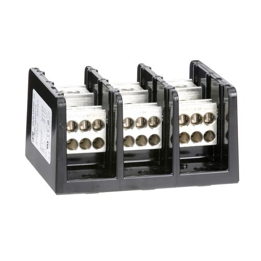 Mayer-Power Distribution Block, 3 pole, 1 line, 6 load, 335 A 600 V CU / 270 A 600 V AL-1