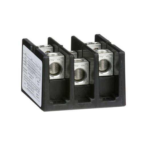 Mayer-Power Distribution Block, 3 pole, 1 line, 4 load, 175 A 600 V CU / 135 A 600 V AL-1