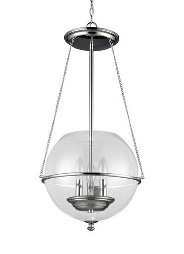 SEG 6511903-05 HAVENWOOD 3 LIGHT SMALL PENDANT IN CHROME W/CLEAR GLASS