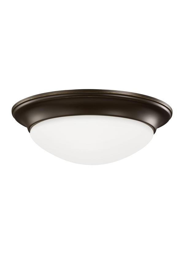 SEA 75434-782 ONE LIGHT FLUSH MOUNT HEIRLOOM