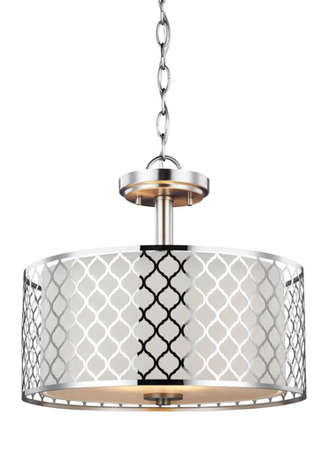 SEG 7715502-962 2 LIGHT SEMI-FLUSH CONVERTIBLE PENDANT