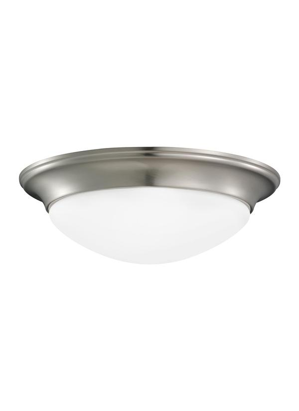 SEA 75436-962 3L FLUSH MOUNT BRUSHED NICKEL