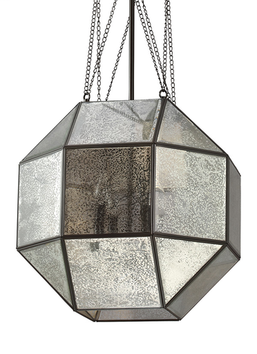 SEG 6535404-782 LAZLO LARGE FOUR LIGHT PENDAT IN HEIRLOOM BRONZE WITH MERCURY GLASS