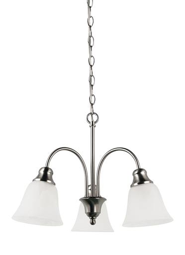 SEG 35949-962 3 LIGHT CHANDELIER BRUSHED
