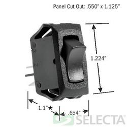 Rocker Switch, SPST, ON-OFF, 16 Amp 125V