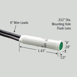 Eaton Corporation SL32113-6-BG 5/16 Inch 125 VAC Green Neon Flush Indicator Light