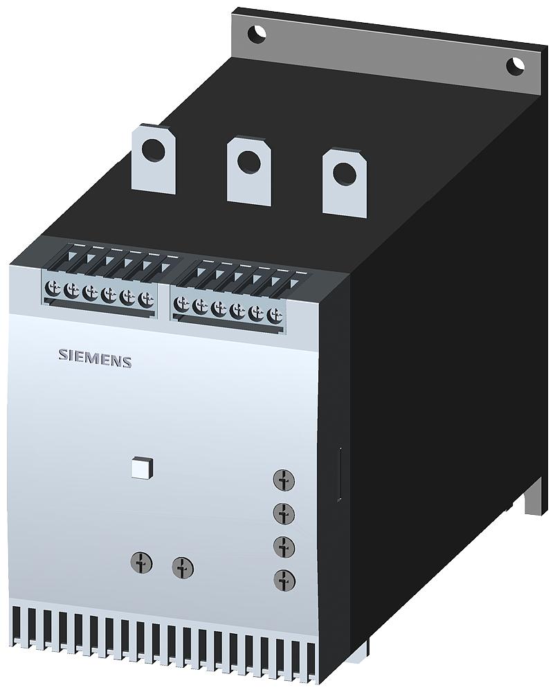 Siemens Industry 3RW4055-6BB35 400 to 600 VAC 134 Amp 3-Pole 2NO 1CO Soft Starter