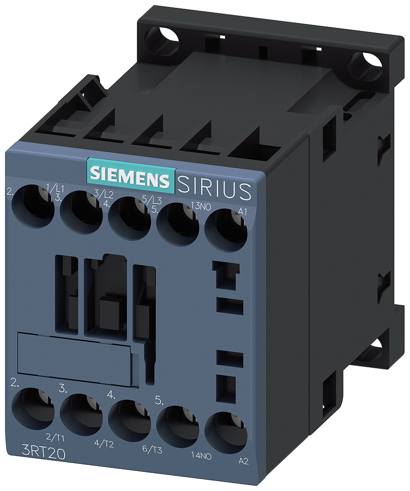 Siemens Industry 3RT20171AK61 120 VAC 12 Amp 3-Pole 1NO Screw Terminal IEC Contactor