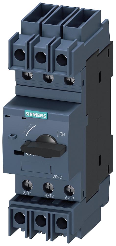 Siemens Industry 3RV27111DD10 3-Pole 690 VAC 3.2 Amp Screw Terminal Thermal Magnetic Circuit Breaker