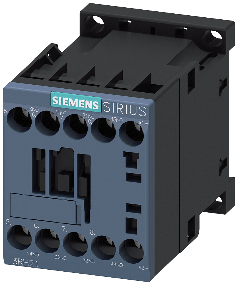 Siemens Industry 3RH21221BB40 690 VAC/600 VDC 24 VDC Coil 10 Amp 2NO 2NC 4-Pole DC Operated Contactor Relay