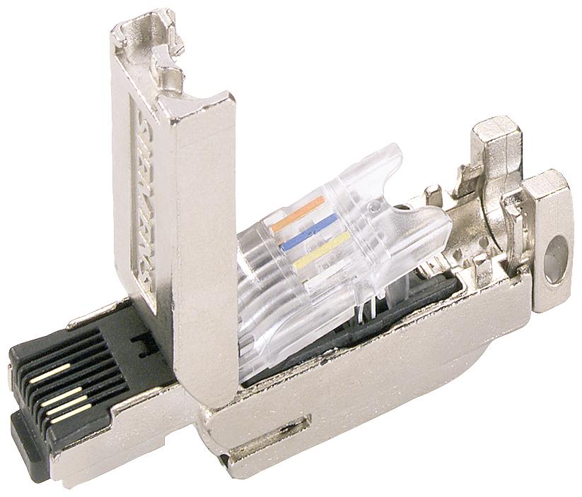 CONNECTOR IE FC RJ45, 180 DEG (1 PC)