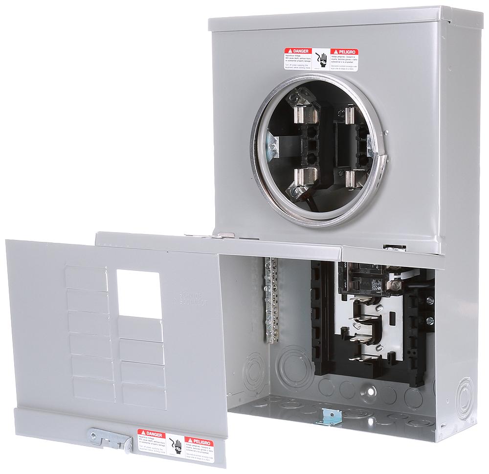 Siemens Industry MC1020B1100S 100 Amp 10-Space 20-Circuit Overhead Surface Mount Meter Center