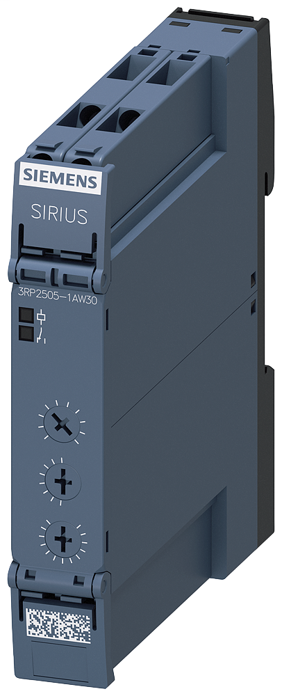 Siemens Industry 3RP25051AW30 12 to 240 VAC/VDC 3 Amp Screw Terminal 1CO Multi-Function Time Relay