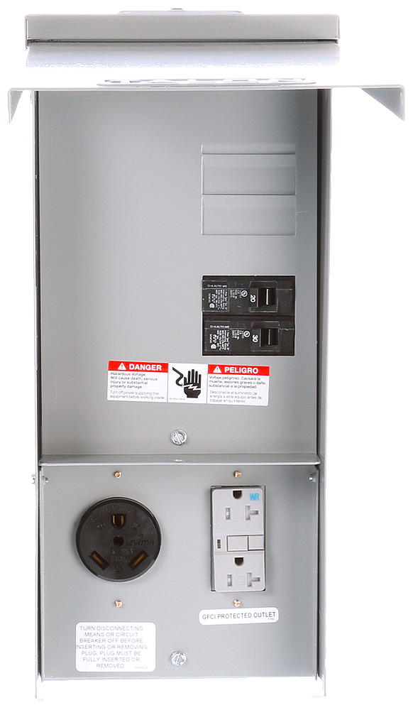 Siemens Industry TL37US 125 Volt 30 Amp Galvanized Steel Power Outlet Panel