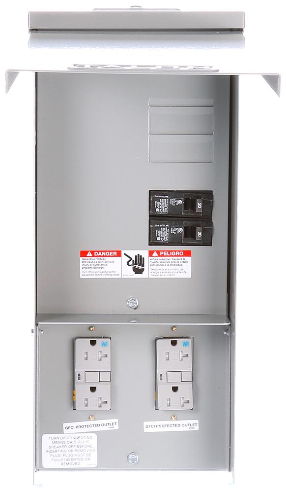 Siemens Industry TL77US 125 Volt 20 Amp Galvanized Steel Power Outlet Panel