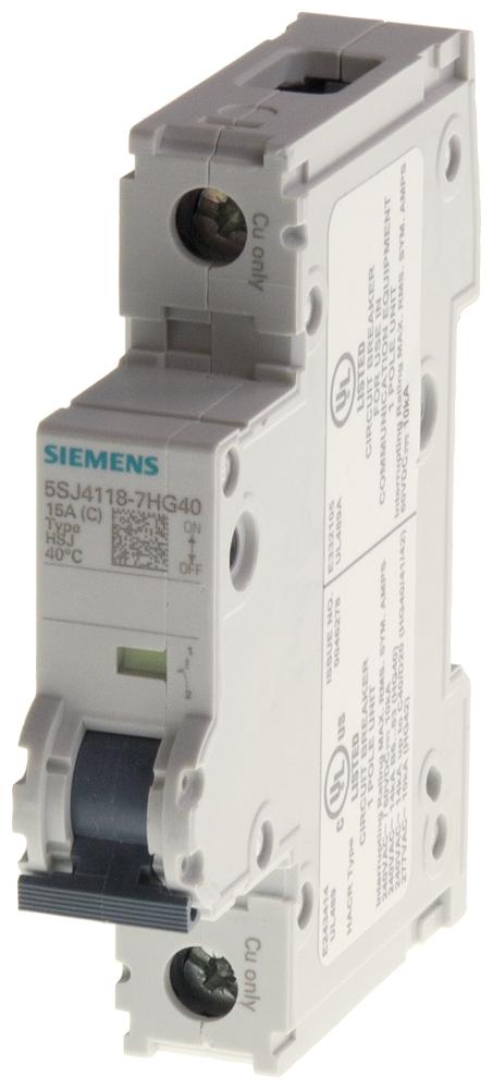 Siemens Industry 5SJ4113-7HG40 UL489 13 Amp C Trip 1-Pole Same Phase Only Miniature Circuit Breaker