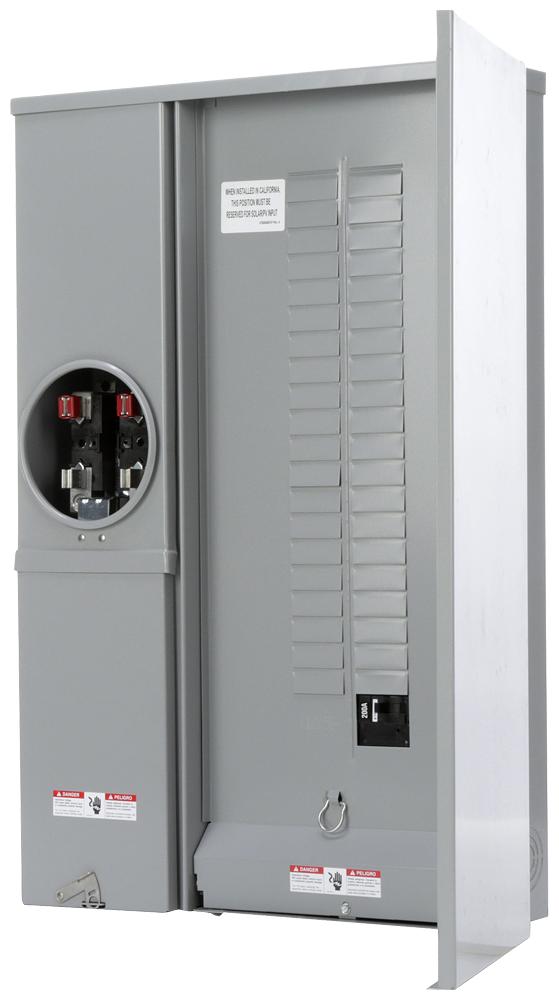 Siemens Industry MC4040B1200SECW 120/240 VAC 200 Amp 1-Phase 3-Wire NEMA 3R Ring Type Combination Meter Load Center