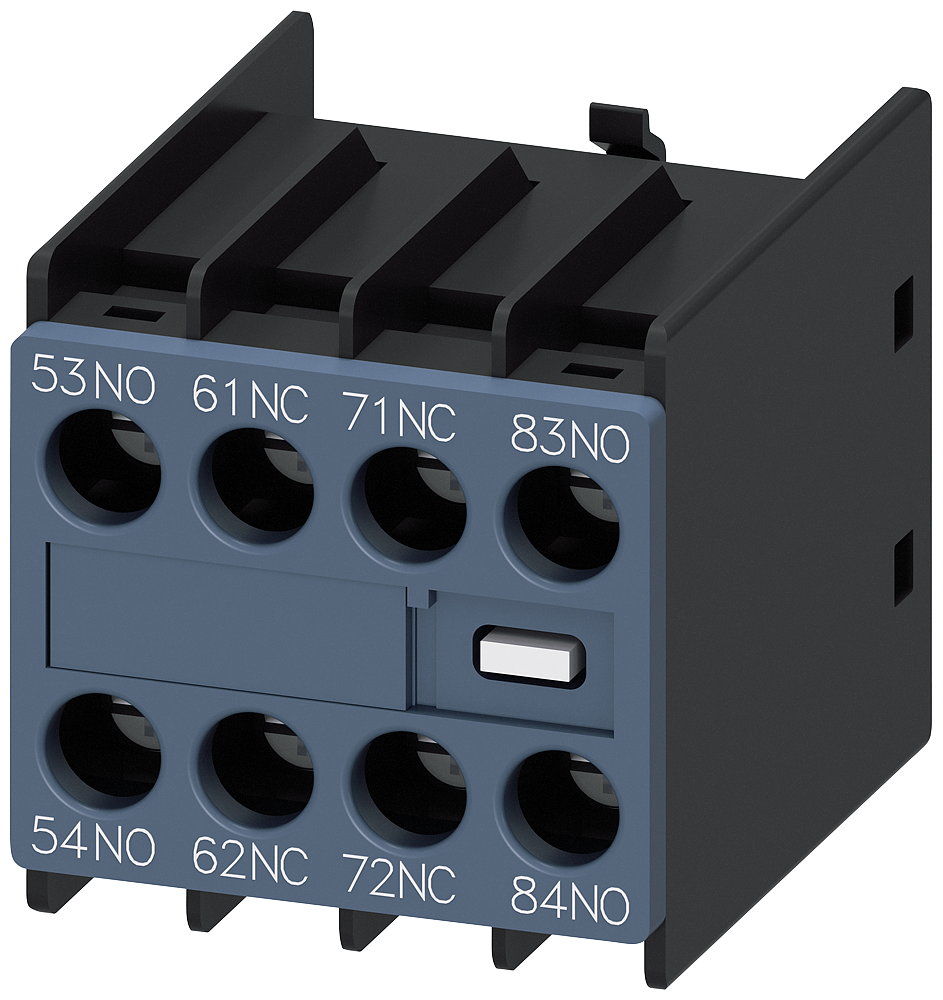 Siemens Industry 3RH29111GA22 230 Volt 6 Amp 2NO 2NC Screw Terminal Contactor Auxiliary Switch Block