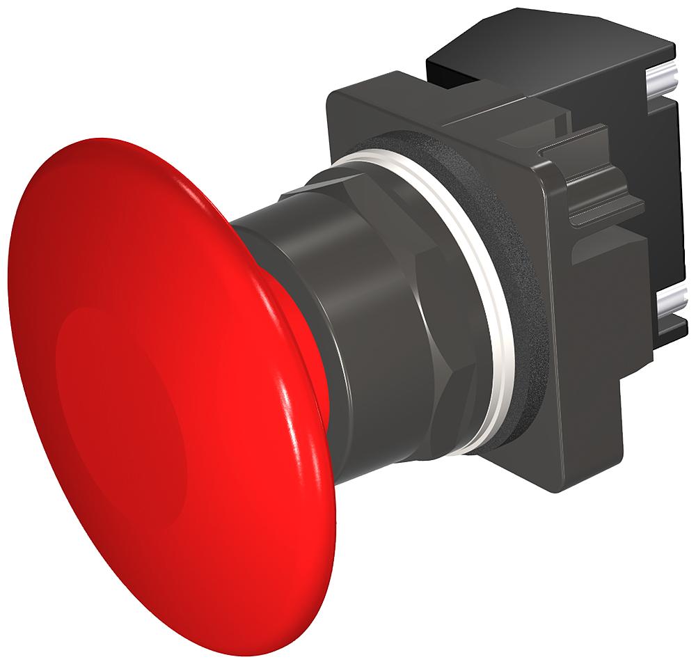 S-A 52BP2V2A PUSHBUTTON,MTD,RED,2 1