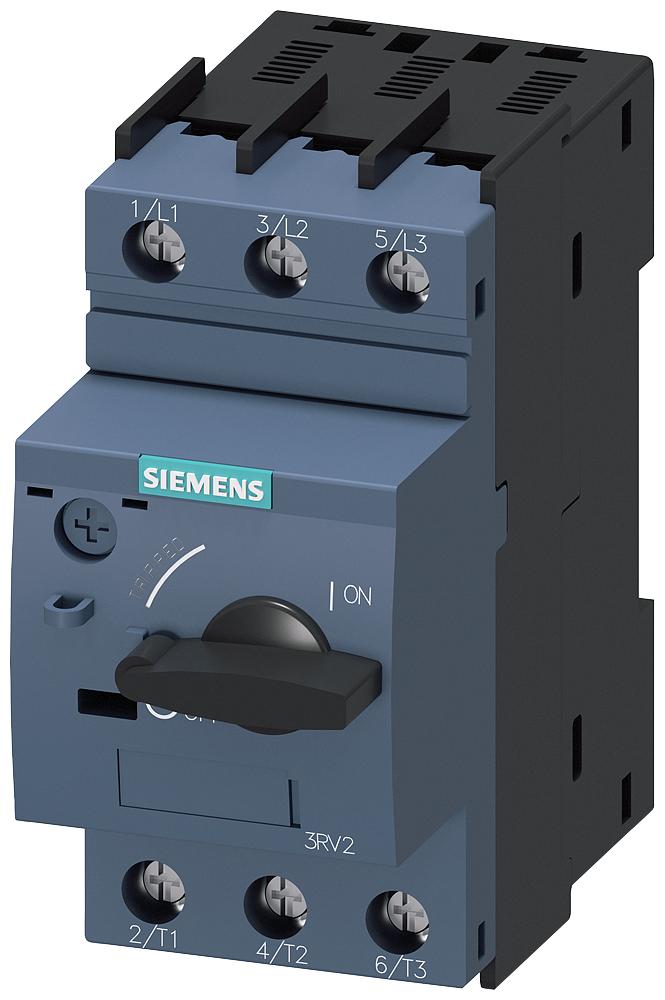 Siemens Industry 3RV20111GA10 3-Pole 6.3 Amp 690 VAC 3-Phase Screw Terminal Thermal Magnetic Motor Starter Protector