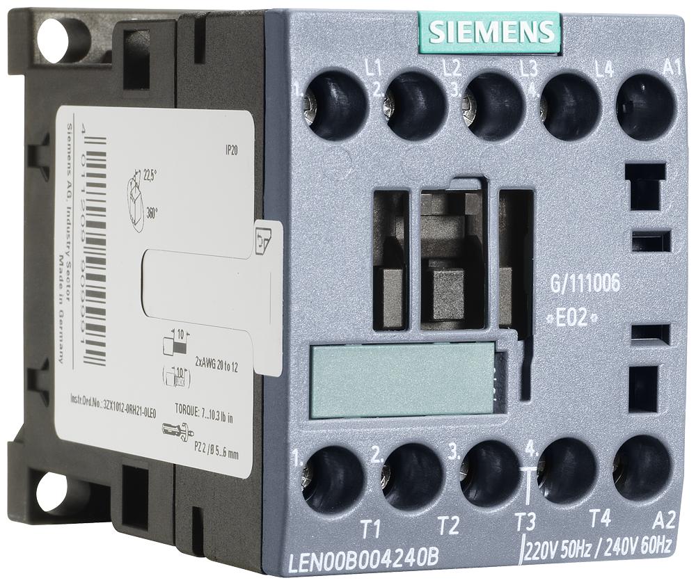 Siemens Industry LEN00B004120B 110/120 VAC 20 Amp 4-Pole 4NO Open Electrically Held Lighting Contactor