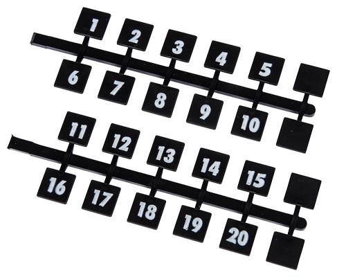 Siemens Industry NBK03 800/Box Legend 1 to 42 Panelboard Number Strip