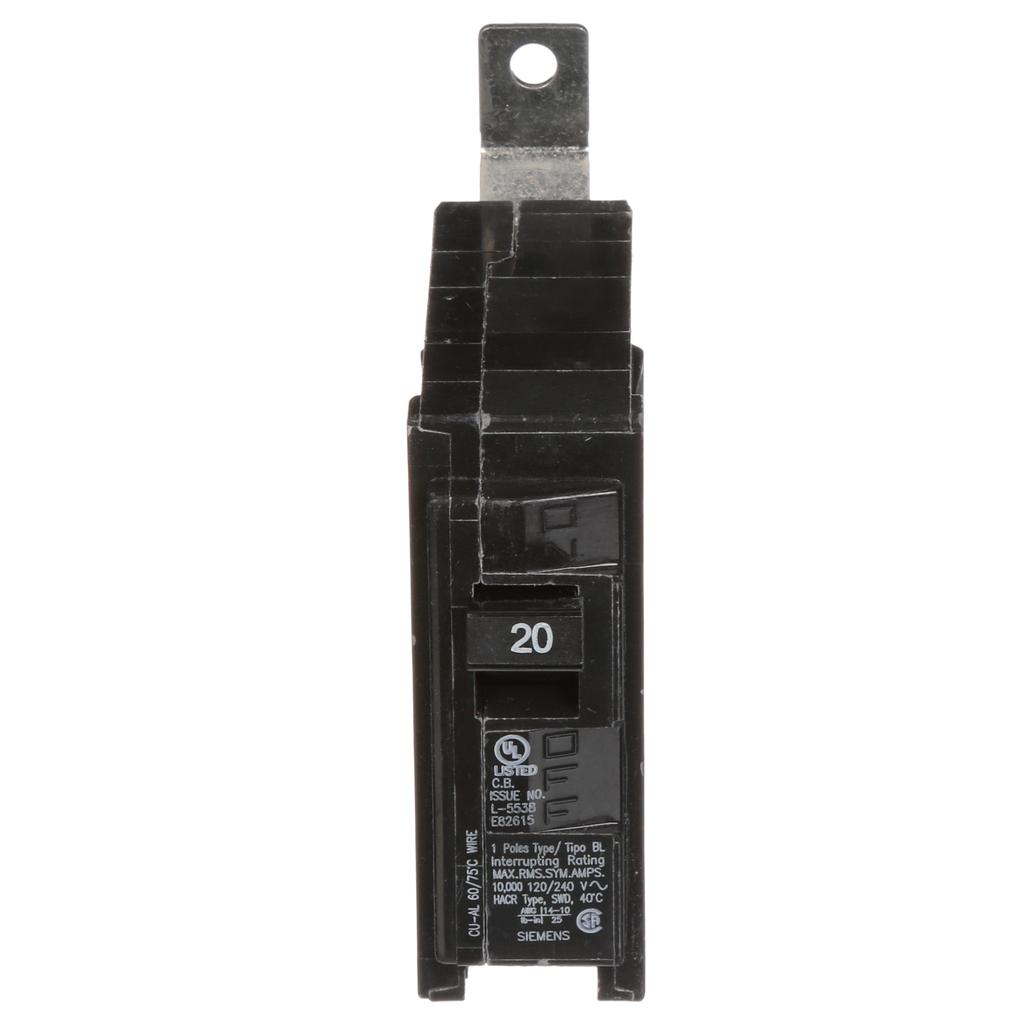 Siemens B120 1-Pole 20 Amp 120 Volt 10 K Circuit Breaker