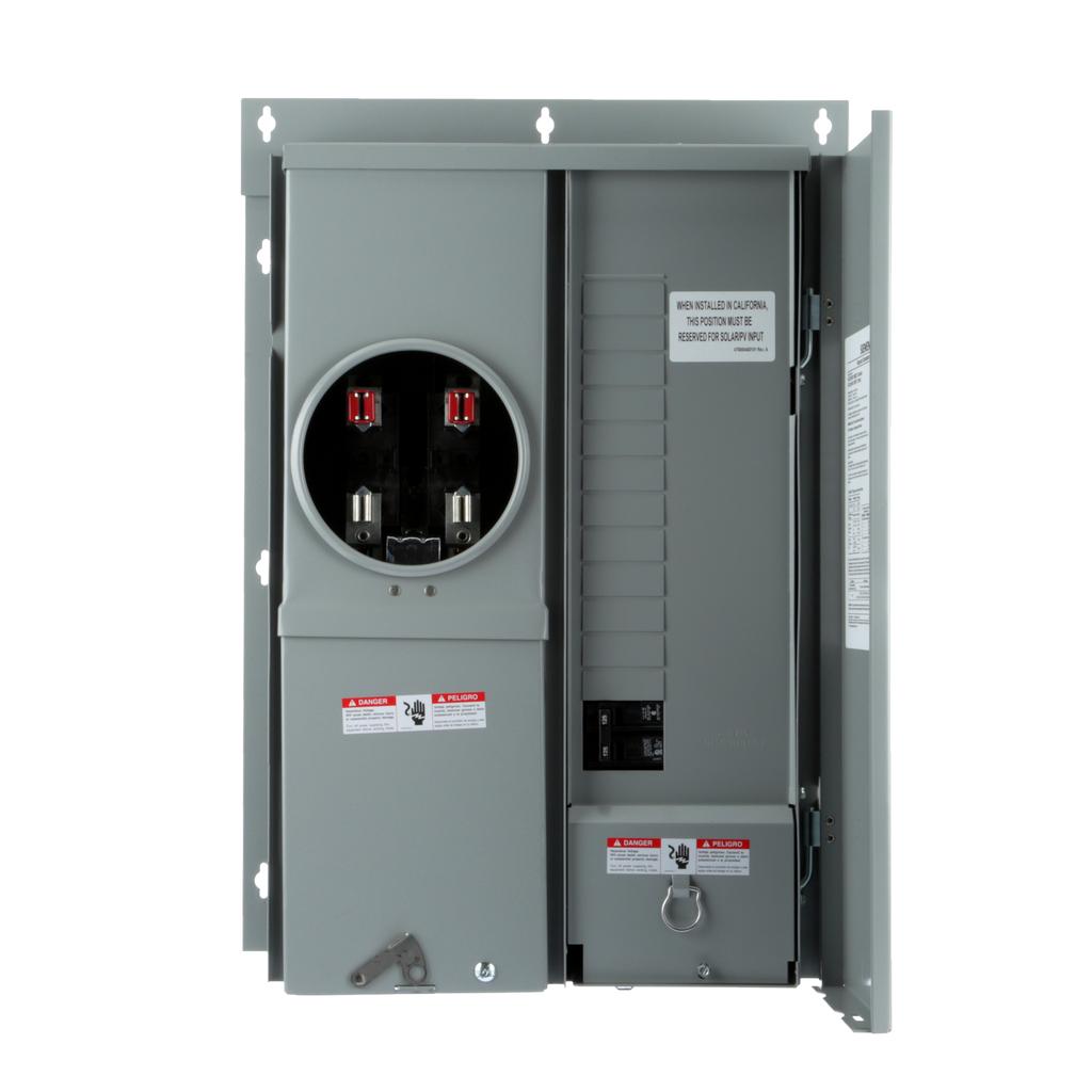 Siemens Industry MC1224B1125EFC EUSERC 125 Amp 12-Space 24-Circuit OH/UG Flush Mount Meter Center