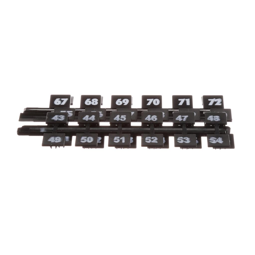 Siemens Industry NBK4 130/Box Legend 43 to 84 Panelboard Number Strip