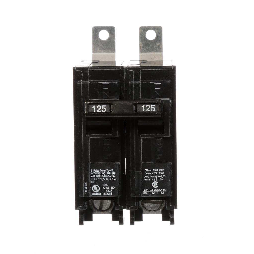 Siemens Industry B2125 2-Pole 125 Amp 120/240 Volt 10 K Circuit Breaker