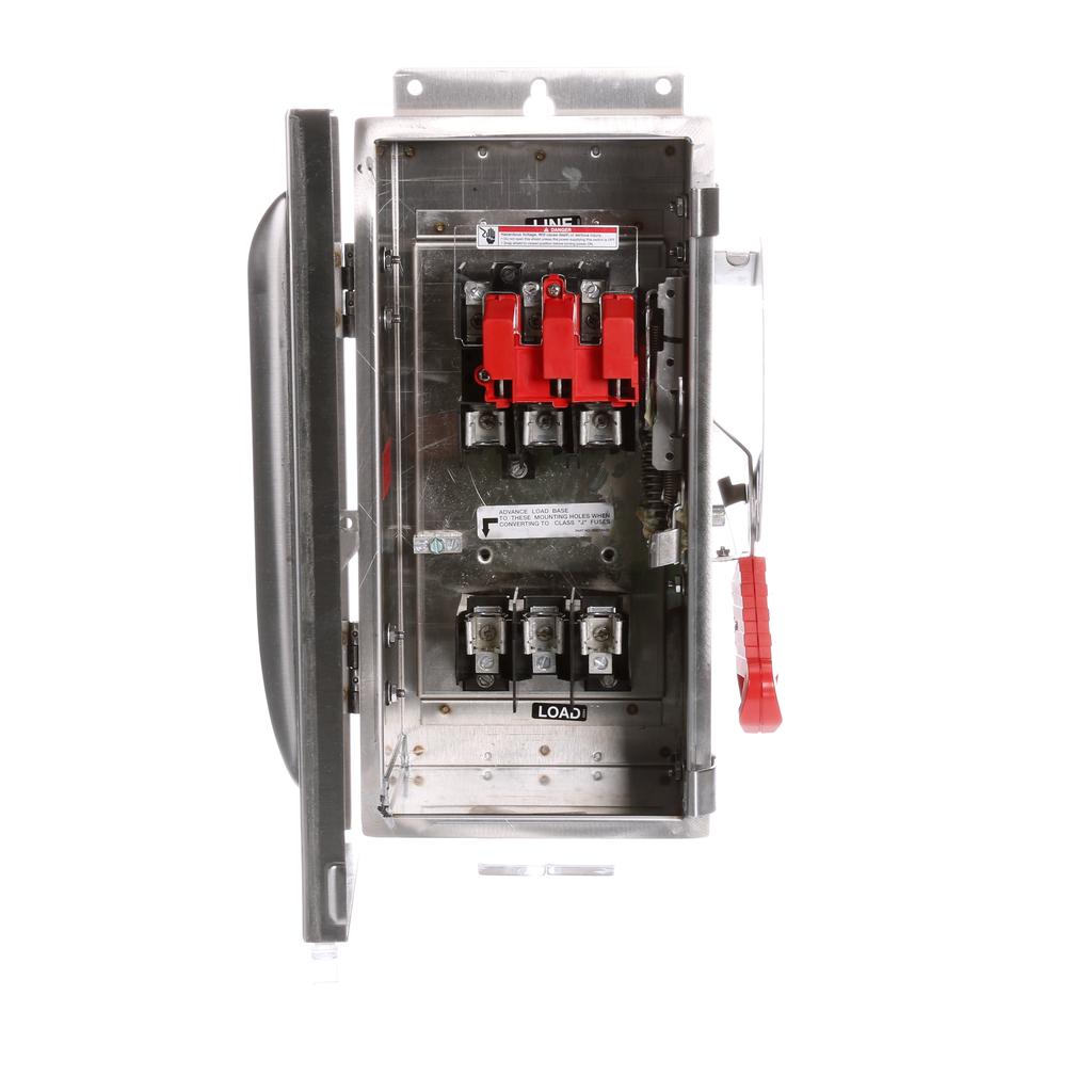 Siemens Industry HF361S 480/600 VAC 250 VDC 30 Amp 3-Pole 3-Wire NEMA 4/4X Heavy Duty Fusible Safety Switch