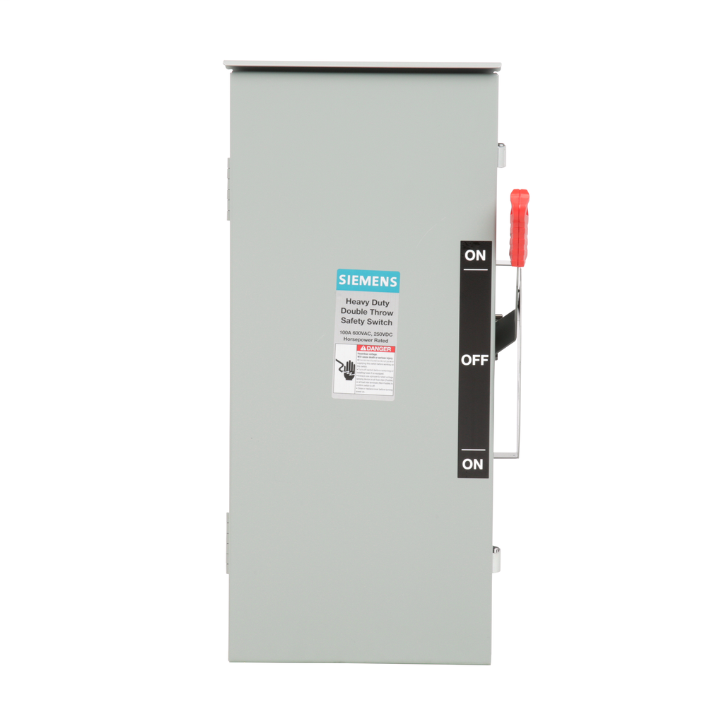 Siemens Industry DTNF363R 600 VAC/250 VDC 100 Amp 3-Pole 3-Wire NEMA 3R Heavy Duty Non-Fusible Safety Switch