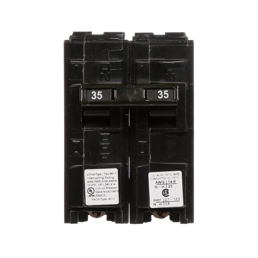 Siemens MP235 2-Pole 120/240 VAC 35 Amp 10 kA Plug-In Common Trip Circuit Breaker