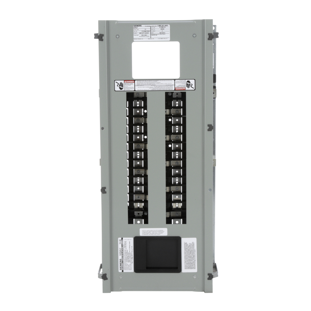 Siemens Industry P1E30MC250AT 480 Star/277 Volt 250 Amp 30 Circuit 3-Phase 4-Wire Copper Bus Convertible Main Panelboard