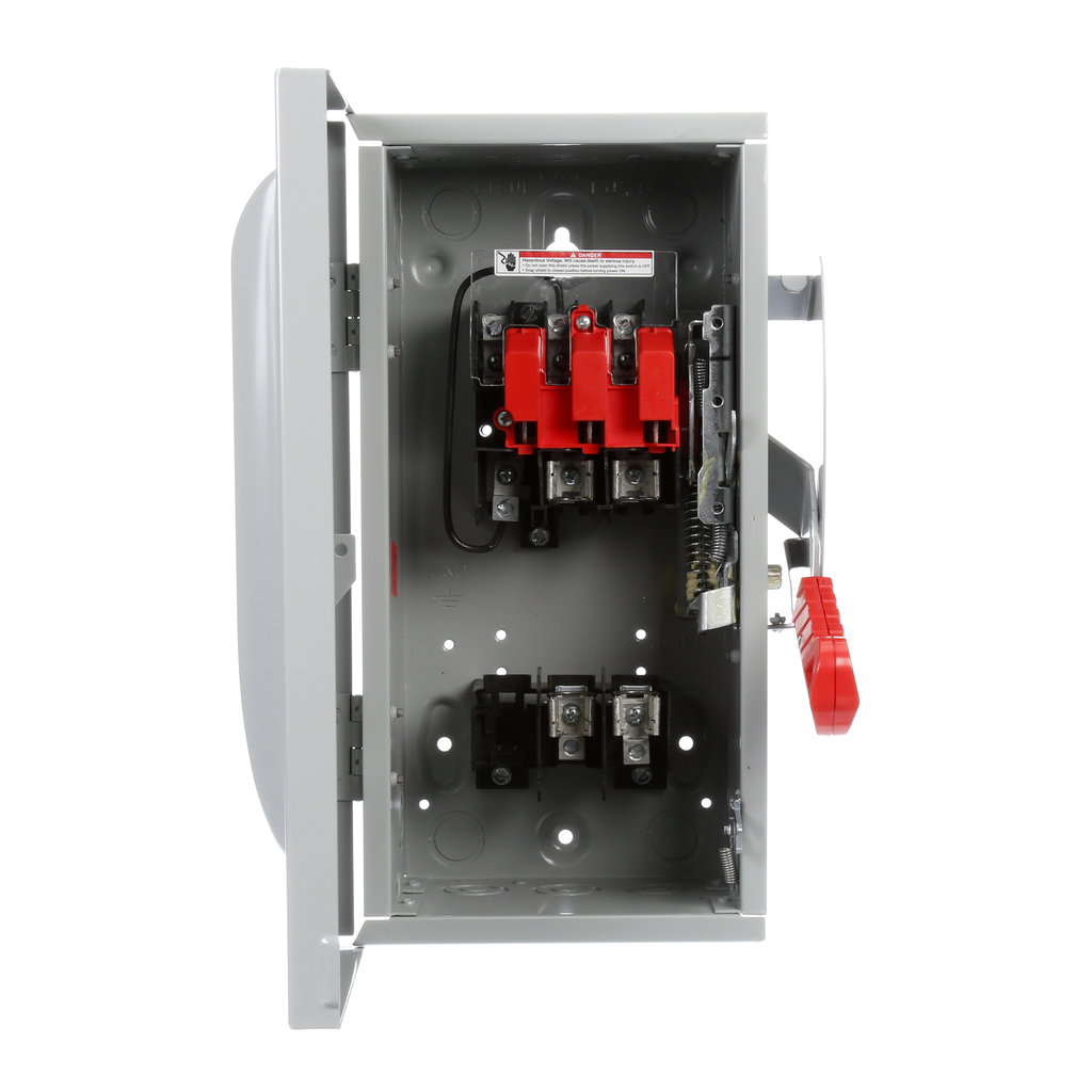 Siemens Industry HF261 480/600 VAC 250/600 VDC 30 Amp 2-Pole 2-Wire NEMA 1 Heavy Duty Fusible Safety Switch