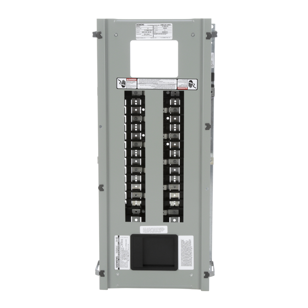 Siemens Industry P1X30MC250AT 208 Star/120 Volt 250 Amp 30 Circuit 3-Phase 4-Wire Aluminum Bus Convertible Main Panelboard