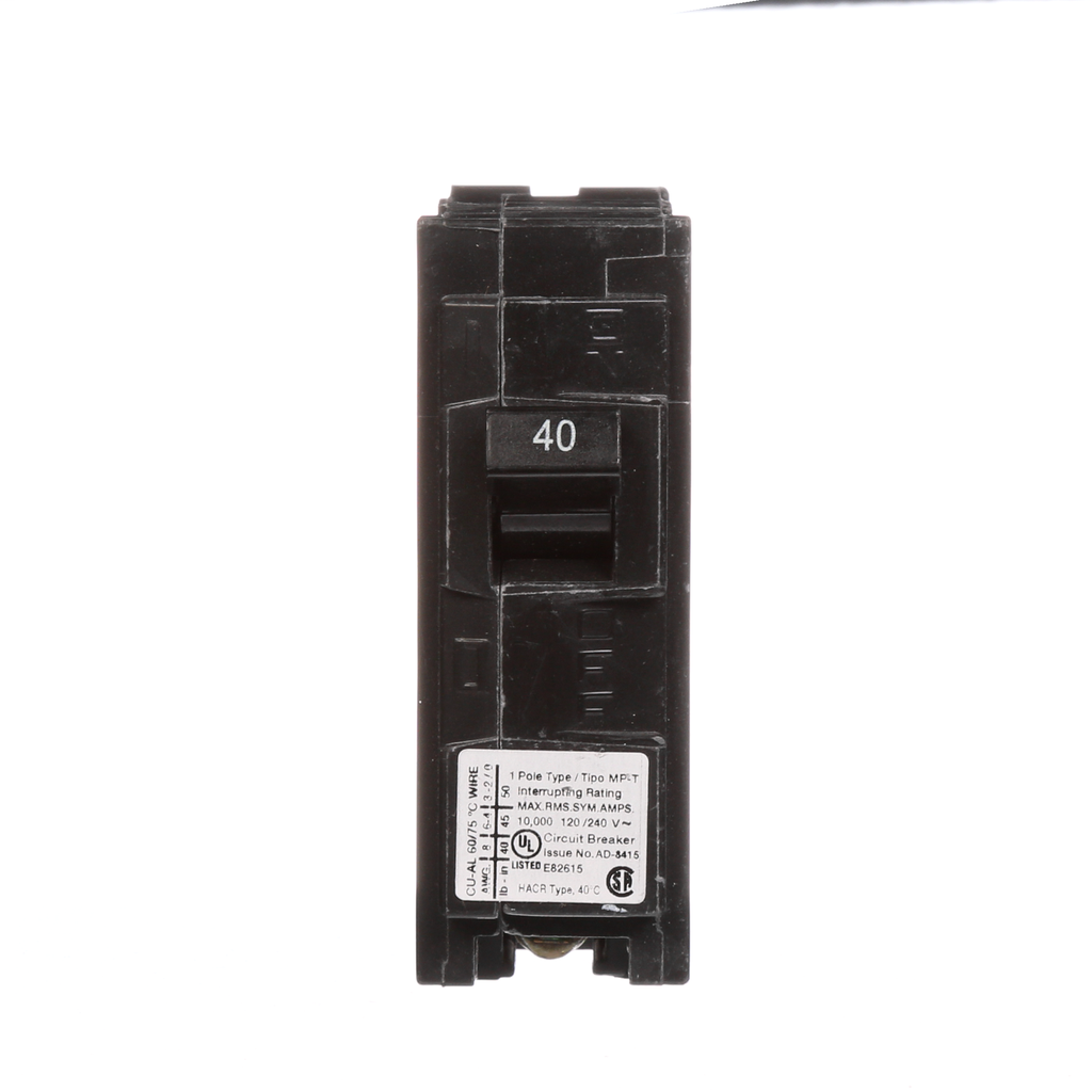 Siemens MP140 1-Pole 120 VAC 40 Amp 10 kA Plug-In Circuit Breaker