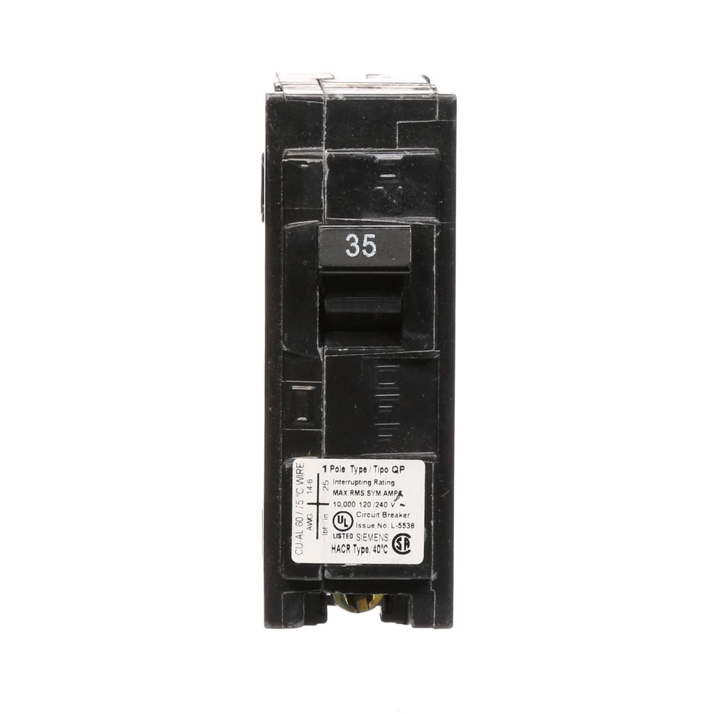 Siemens Industry Q135 120 Volt 35 Amp 10 kaic 1-Pole Type QP Circuit Breaker