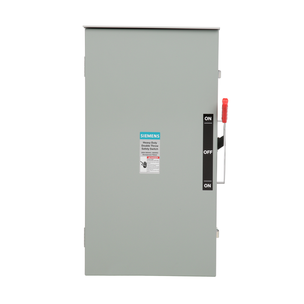 Siemens Industry DTNF364R 600 VAC/250 VDC 200 Amp 3-Pole 3-Wire NEMA 3R Heavy Duty Non-Fusible Safety Switch