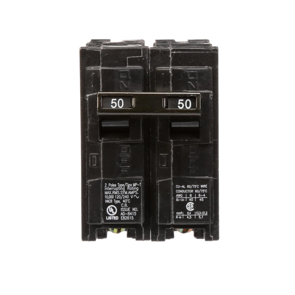 Siemens MP250 2-Pole 120/240 VAC 50 Amp 10 kA Plug-In Common Trip Circuit Breaker